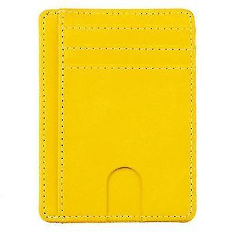 Spot anti-magnetische en anti-slijtage kaarthouder id-kaarthouder bus card tas (GEEL)
