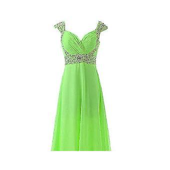 Long Cap-sleeve Evening Dresses Simple Chiffon Gowns ( Set3)