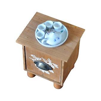 Újszülött dohányzóasztal és teáskanna teáskanna teástál készlet