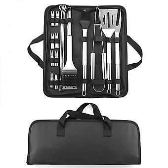 20pcs Barbecue Utensils, Stainless Steel Barbecue Kit  Tools Kitchen Sets Bbq Grill Accessories With Barbecue Tongs