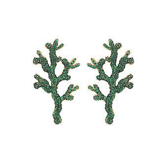 Coral Reef Ohrringe Grün CZ
