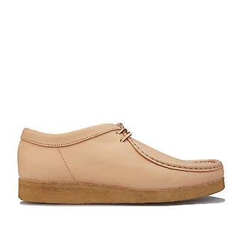 Herren Clarks Originals Wallabee Schuhe in Creme