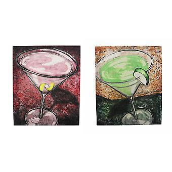 Apple Martini en kosmopolitische Cocktail Canvas Wall Art