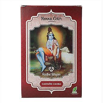 Halvpermanent Färgant Henna Radhe Shyam Mahogny Brun (100 g)