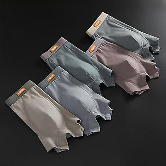 Five-piece Solid Color Seamless Boxer Briefs Without Side Seams