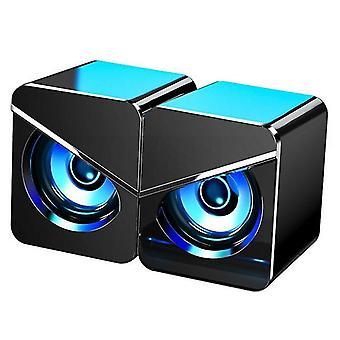 Speakers black usb computer speakers with subwoofer 3.5Mm multimedia speakers for pc desktop