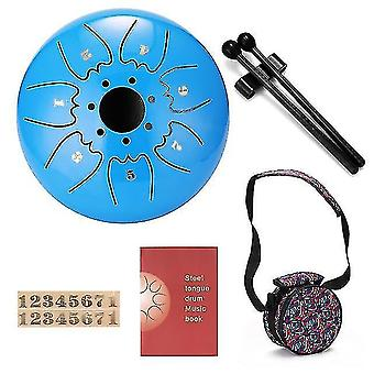 Drum kits 6 inch 7-tone steel tongue drum mini hand pan drums with drumsticks percussion musical