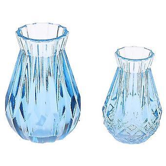 1/2/5/6Pcs/lot aranyos vintage porcelán virágcserép váza jar 1:12 méretarányú kézműves babaház miniatűr
