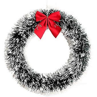 1pcs Weihnachtskranz Haus Garten Wand Hängender Weihnachtsbaum Hängender Kranz Dekoration Haustür Geschenk Ornamente