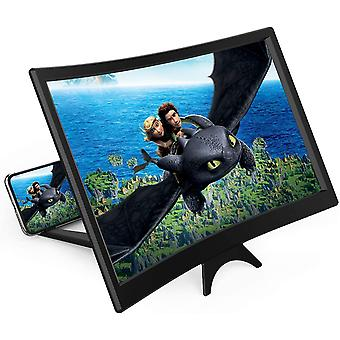 """14"""" Phone Screen Magnifier,movie Screen Magnifying With Curved Surface"""
