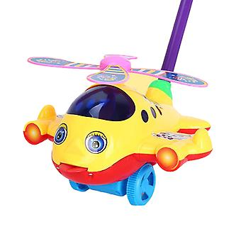 Baby Push And Pull Spielzeug Gelb gefärbtEs lustiges Flugzeug