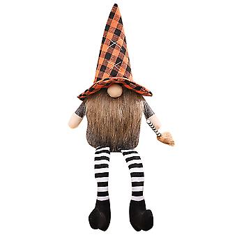 Mile 1 Pack Handmade Halloween Gnome Plush Faceless Doll With Broom