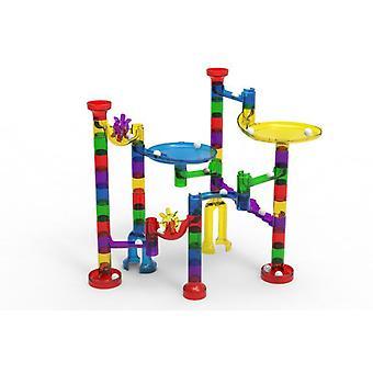 80pcs Space Pipe Ball Spielzeug Große Partikel Spur Montage Bausteine Kinder Bildung