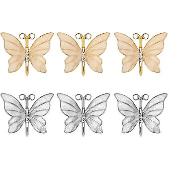 Butterfly Napkin Rings Set Of 6, Paper Holder Dinning Table