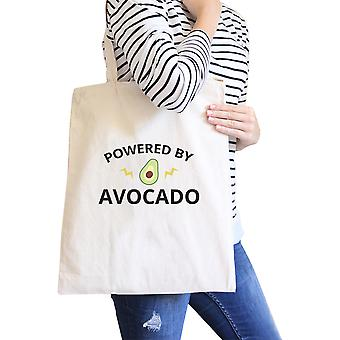 Powered By lona reutilizable Natural Aguacate totalizador lindo gráfico Tote