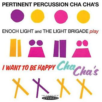 Enoch Light & the Light Brigade - Pertinent Percussion Cha Chas & I Want to Be Happy [CD] USA import