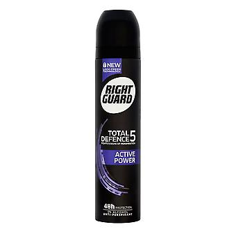 Right Guard Total Defence 5 Active Power Aerosol For Him