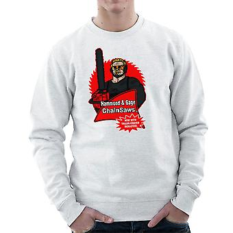 Hammond and Gage Chainsaws Buzzsaw Running Man Men's Sweatshirt