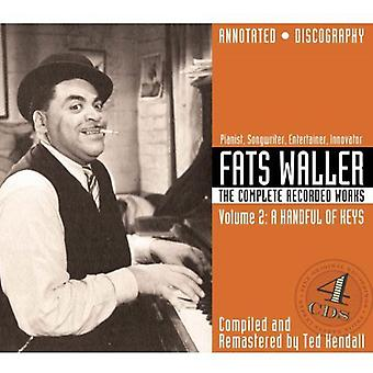 Fats Waller - Fats Waller: Vol. 2-Complete Recorded Works: Handful of Keys [CD] USA import