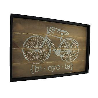 Distressed Finish Retro Bicycle Wooden Wall Hanging