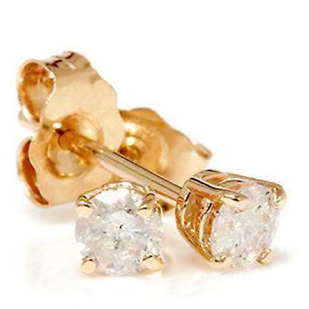 3 / 4ct бриллиант шпильки 14K желтое золото
