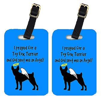 Carolines Treasures  AN1085BT Pair of 2 Fox Terrier Luggage Tags