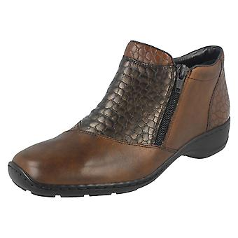 Las señoras Rieker doble Zip botín 58359