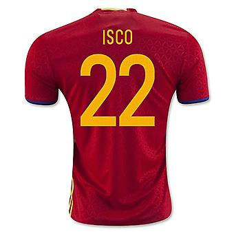 2016-2017 İspanya Ev Gömlek (Isco 22)