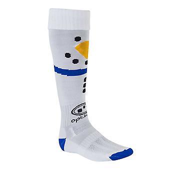 OPTIMALE Weihnachten Schneemann Rugby Socken [White]-Junior