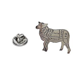 Boucherie-découpes d'agneau / mouton Lapel Pin Badge