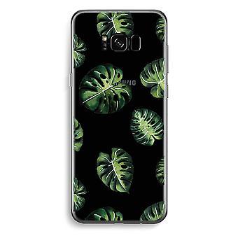 Samsung Galaxy S8 transparentes Gehäuse (Soft) - tropische Blätter