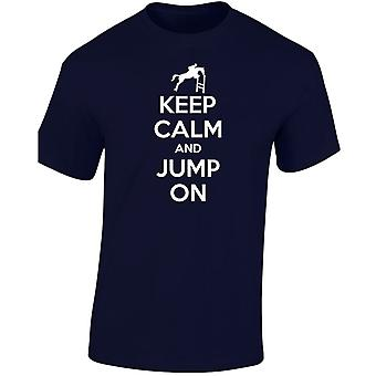 Keep Calm Jump On Horse Equestrian Kids Unisex T-Shirt 8 Colours (XS-XL) by swagwear