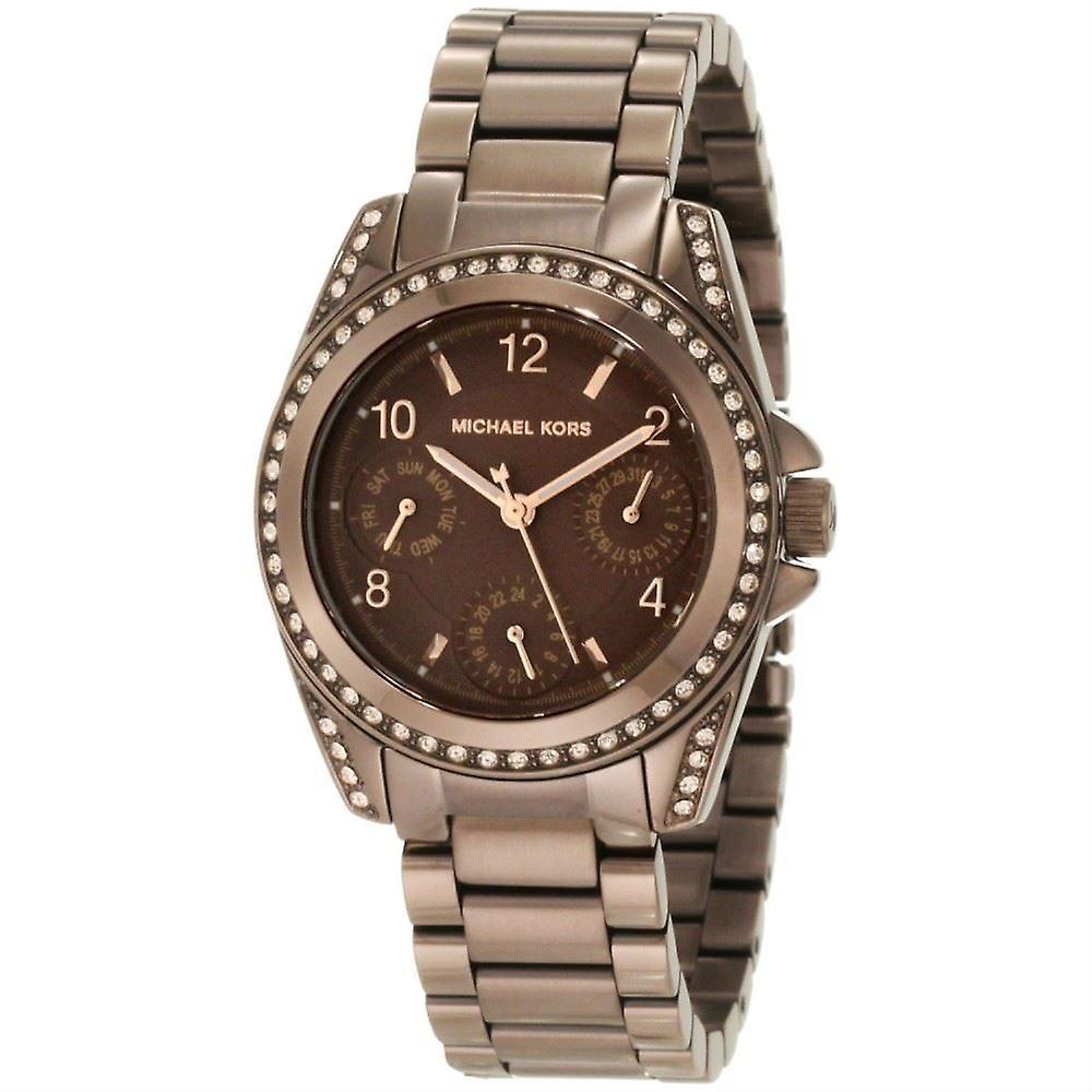 Michael Kors Womens Mesdames Blair Bronze Wrist Watch Gold Tone MK5614