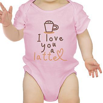 Amo un Latte Infant Bodysuit regalo rosa