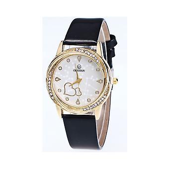 Coeur or jaune chic Black Watch Love claire temps élégant
