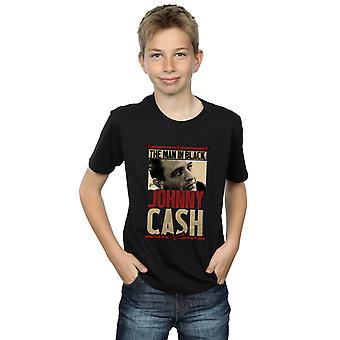 Johnny Cash Boys Man In Black Photo T-Shirt