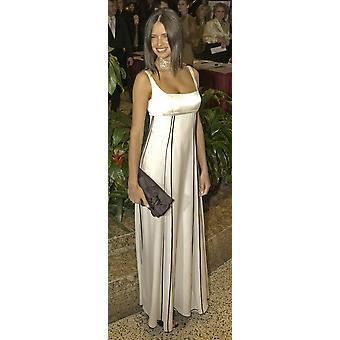 VictoriaS Secret-modellen Adriana Lima anländer till den årliga vit House korrespondenter Association middagen i Washington Dc maj 1 2004 komikern Jay Leno levereras en monolog som presenterade gäst på den