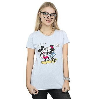 Disney Women's Mickey And Minnie Mouse Kiss T-Shirt