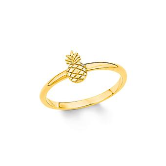 s.Oliver jewel ladies ring Silver Gold cubic zirconia SO PURE pineapple 201995