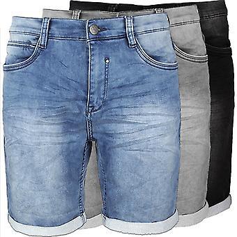 Men's Jeans Shorts Sweat Jogger Pants Bermuda Stretch Trousers