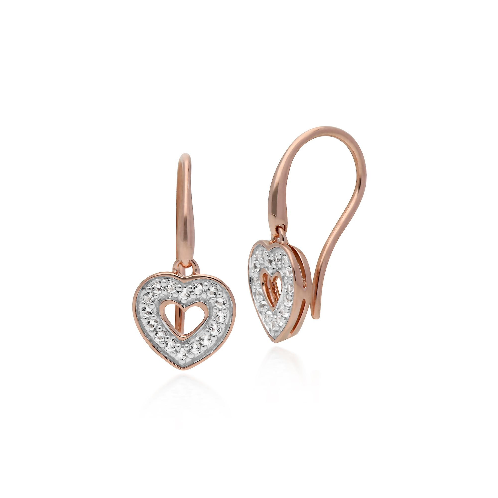 Gemondo Rose Gold Plated Sterling Silver Clear Topaz Earrings