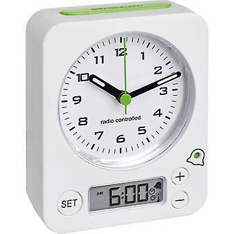 TFA Dostmann 60.1511.02 wekker radio wit fluorescerende handen