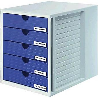 HAN SYSTEMBOX 1450-14 Desk drawer box Light grey A4, C4 No. of drawers: 5