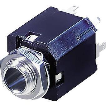 REAN AV NYS232 6.35 mm audio jack aansluiting, verticale verticale aantal pins: 3 Stereo zwart 1 PC('s)