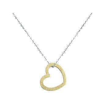 Gemshine Damen Herz Halskette Anhänger 925 Silber Vergoldet 2,5 cm