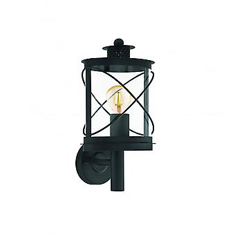 Eglo Hilburn Traditional Round Black Lantern Wall Light