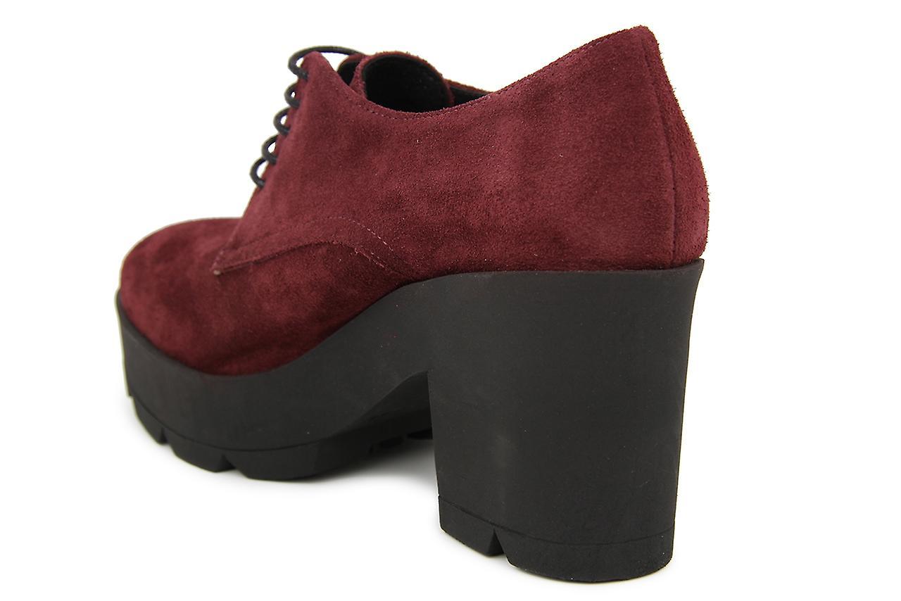 Liberitae cordons et chaussure Blucher boutonné daim de haut talon chaussures Bordeaux 21603625-05