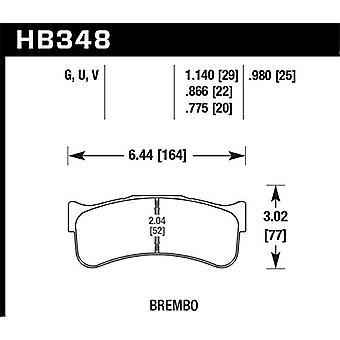 Hawk Performance HB348Q.980 Disc Brake Pad DTC-80 w/0.980 Thickness Fits Brembo Disc Brake Pad