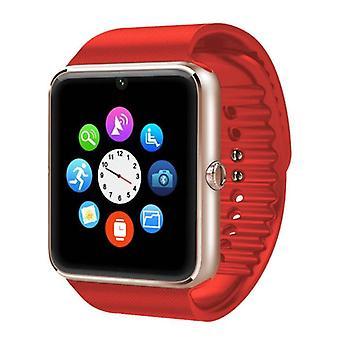 Stoff zertifiziert® Original GT08 Smartwatch Smartphone Fitness Sport Aktivität Tracker Uhr OLED Android iOS iPhone Samsung Huawei Rot