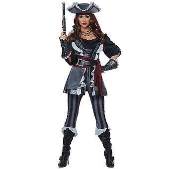 Костюм женский пират капитан Blackheart Делюкс пирата разрушителя